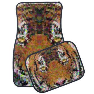 Tiger Triangle Mandala Car Mat