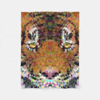 Tiger Triangle Mandala Fleece Blanket