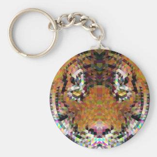 Tiger Triangle Mandala Keychain