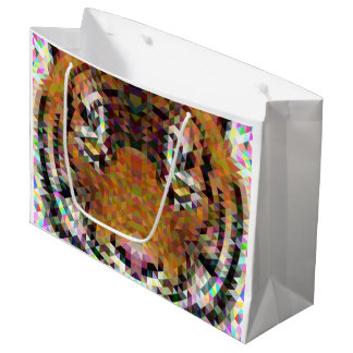 Tiger Triangle Mandala Large Gift Bag