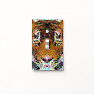 Tiger Triangle Mandala Light Switch Cover