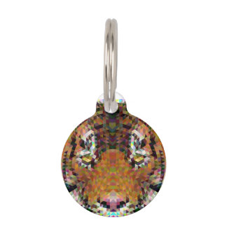 Tiger Triangle Mandala Pet Tag