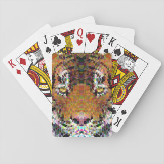 Tiger Triangle Mandala Playing Cards