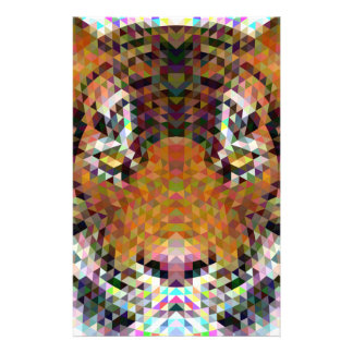 Tiger Triangle Mandala Stationery