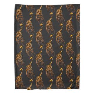 Tiger Tribal Stalking Duvet Cover