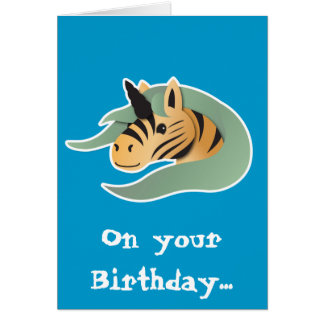 Tiger Unicorn cute! Card