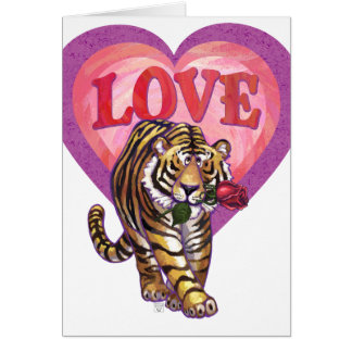 Tiger Valentine's Day Card