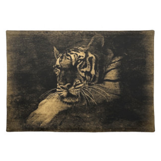 Tiger Vintage Art Placemats