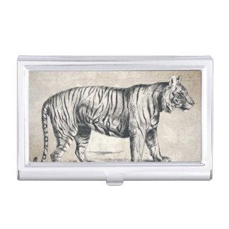 Tiger Vintage Wildlife Grunge Decorative Business Card Holder