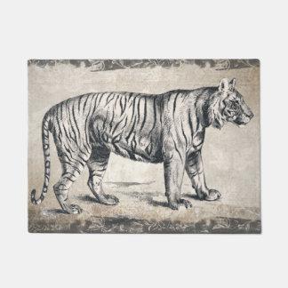 Tiger Vintage Wildlife Grunge Decorative Doormat