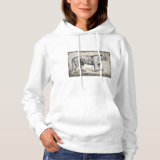 Tiger Vintage Wildlife Grunge Decorative Hoodie
