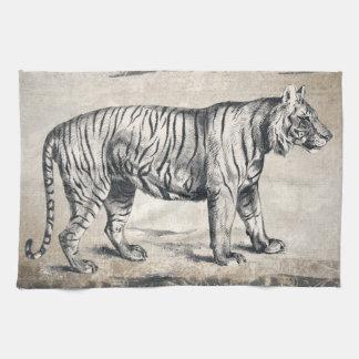 Tiger Vintage Wildlife Grunge Decorative Kitchen Towel