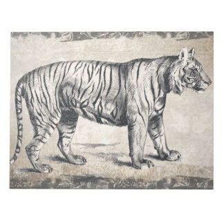 Tiger Vintage Wildlife Grunge Decorative Notepad