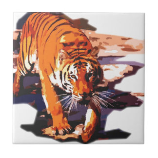 Tiger Walking Tile