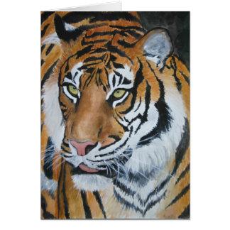 Tiger Watercolour Card