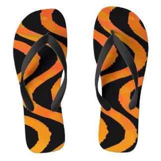 Tiger Wave Flip Flops