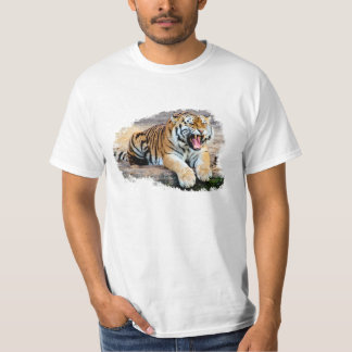 Tiger White Tee-shirt T-Shirt