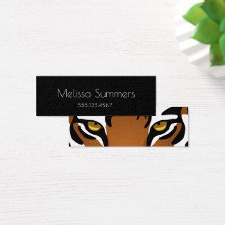 Tiger, Wild Cat on Black Mini Business Card