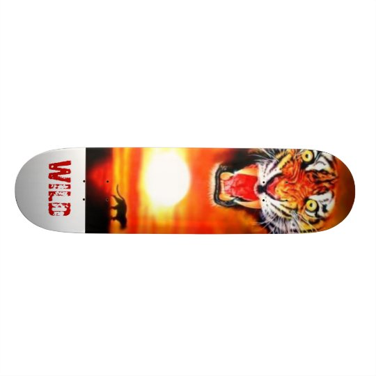 tiger, WILD Skateboard Deck