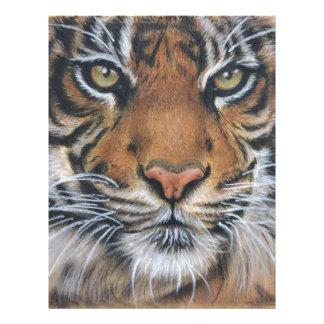 Tiger Wildlife Animal art Letterhead