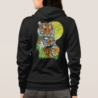 Tiger with Cub Zip Hoodie