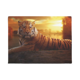 Tiger with Sunset Doormat