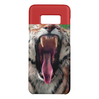 Tiger yawn, fangs, tongue Case-Mate samsung galaxy s8 case