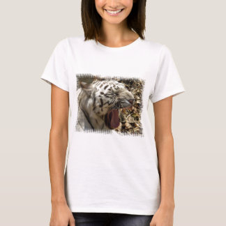 Tiger Yawn Ladies Fitted T-Shirt
