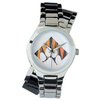 Tigerpaw Silver Wrap-Around Wristwatch