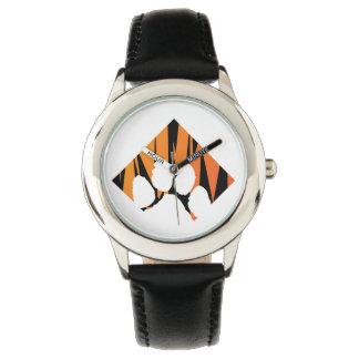 Tigerpaw Stainless Steel Black Wristwatches