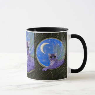 Tigerpixie Fairy Tiger Purple Fantasy Cat Art Mug