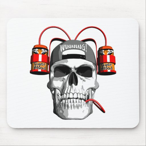 Tigers Blood Drink Mousepads