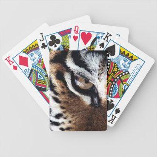 Tiger's eye bicycle playing cards