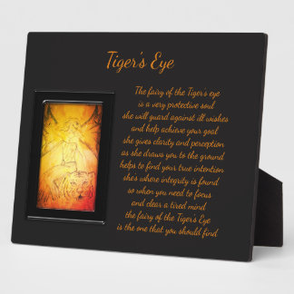 Tiger's Eye Crystal Fairy Plaque