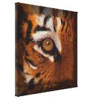 Tiger's Eye Wildlife Supporter Art on Canvas Print