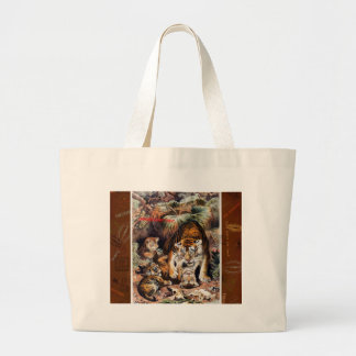 Tigers for Responsible Travel Large Tote Bag