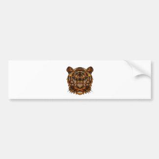 Tiger's Head 1a Bumper Sticker