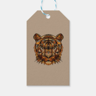 Tiger's Head 1a Pack Of Gift Tags