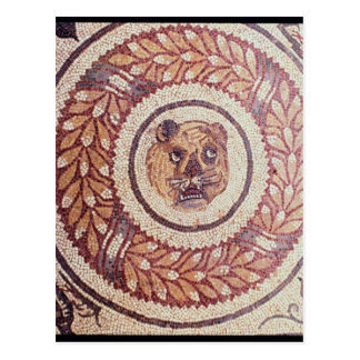 Tiger's head, Roman mosaic, early 4th century Postcard