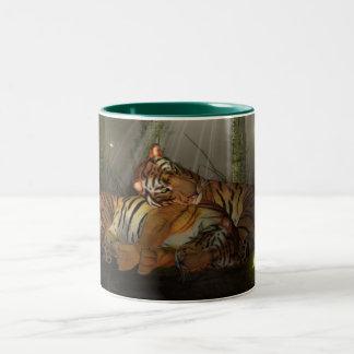 Tigers In Love Mug, Chinese New Year, Year Of Tige Two-Tone Coffee Mug