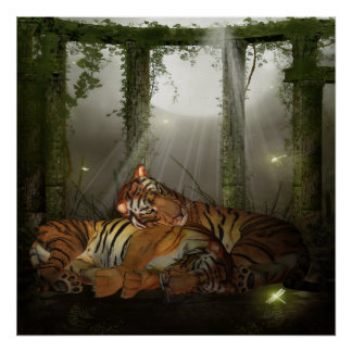 Tigers In The Ruinds I love You, Year Of The Tiger Poster