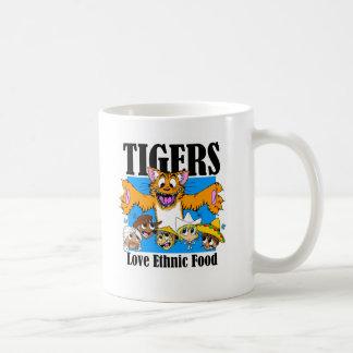 Tigers like Ethnic Food Classic White Coffee Mug