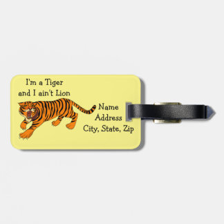 Tigers, Lions and Puns Bag Tag