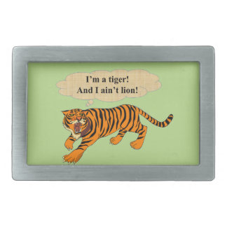 Tigers, Lions and Puns Belt Buckle