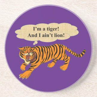 Tigers, Lions and Puns Coaster