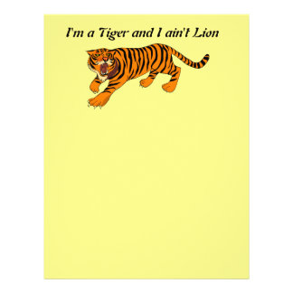Tigers, Lions and Puns Customized Letterhead