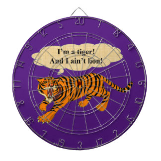 Tigers, Lions and Puns Dartboard