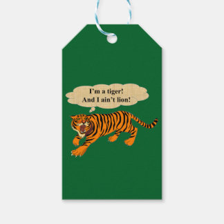 Tigers, Lions and Puns Gift Tags