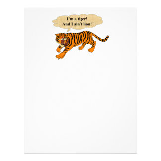 Tigers, Lions and Puns Letterhead