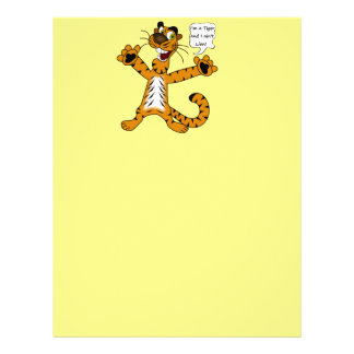 Tigers, Lions and Puns Letterhead Template
